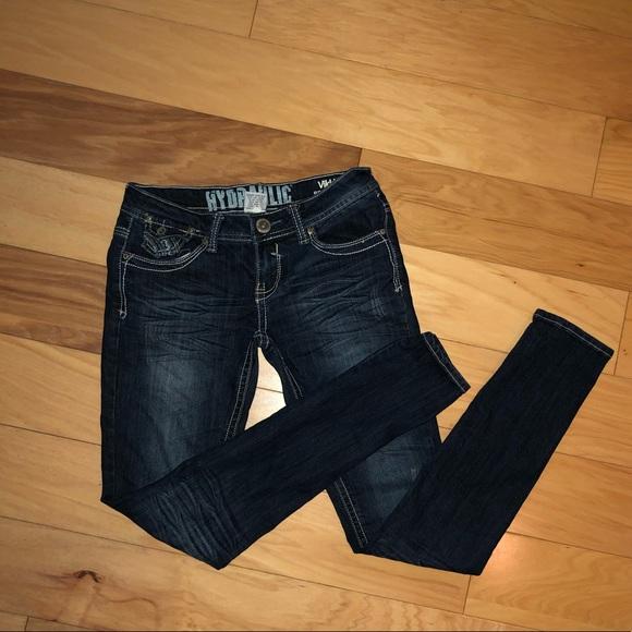 21488c3d860 Hydraulic Denim - Hydraulic Blue Jeans size 7 8 Vikki Super Skinny